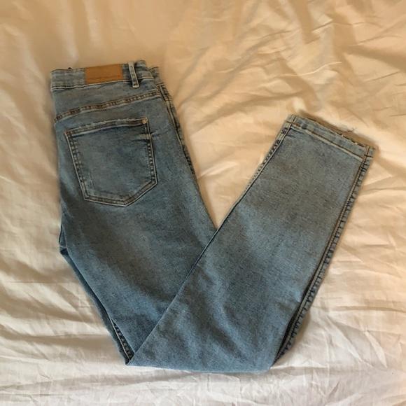 Zara mid waist skinny jeans